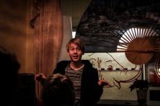 Kristian Tangvik framförde bland annat dansk dikt
