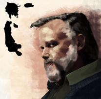 Peter Nyberg, illustration av Nathanael Bronett